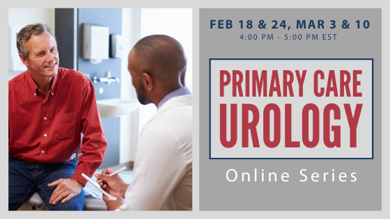 Feb 18 & 2, Mar 3 & 10 - 4:00 PM - 5:00 PM | Primary Care Urology