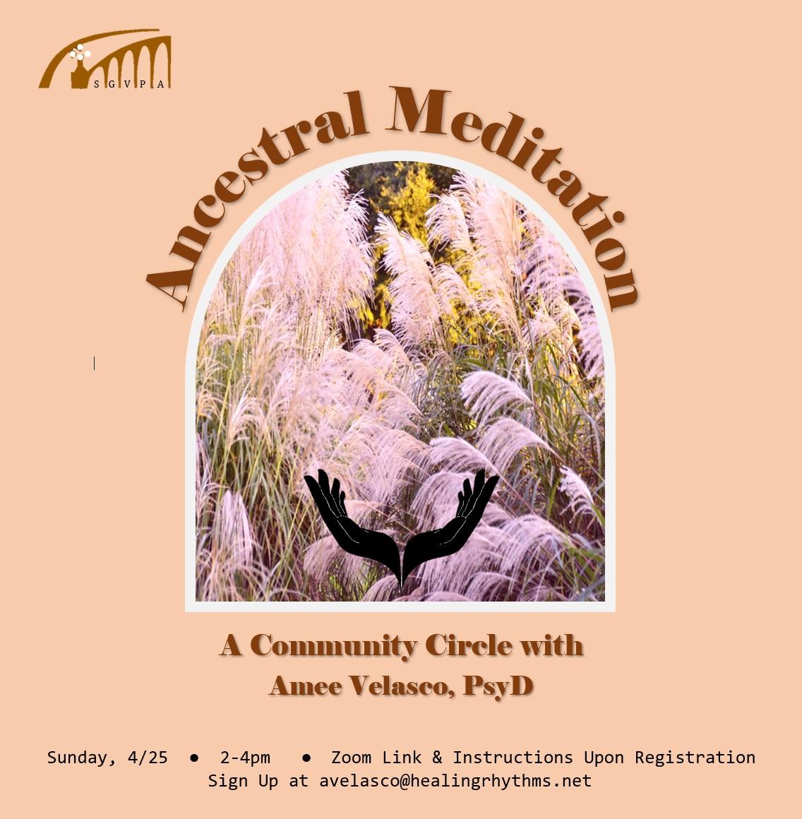Ancestral Meditation Flyer
