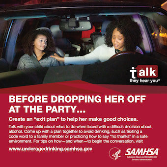 Source File: Talk. They Hear You: Before Dropping Her Off at the Party