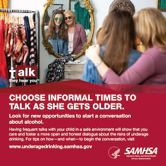 Source File: Talk. They Hear You: Choose Informal Times to Talk as She Gets Older