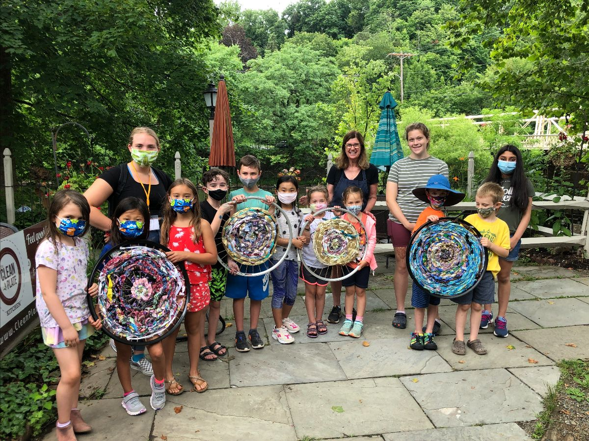 group photo of summer art campers