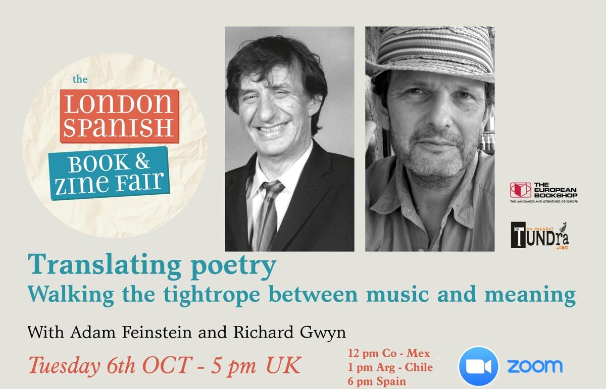 Translating poetry with Adam Feinstein and Richard Gwyn