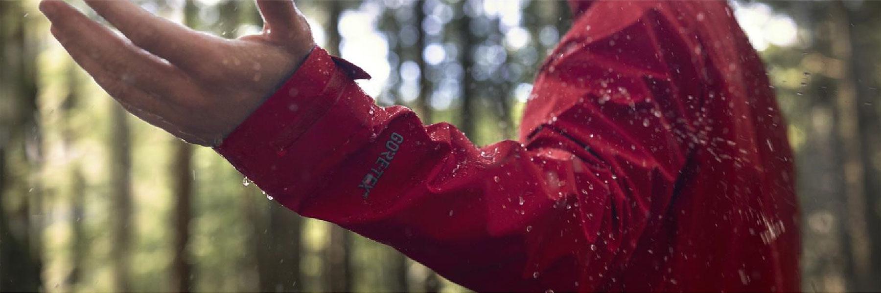 Gore-Tex Jacket Showing Waterproof