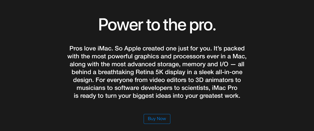 Pros love iMac. So Apple created one just for you.