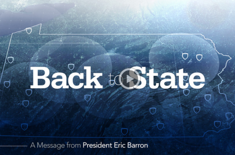 Back to State: A Message from President Eric Barron