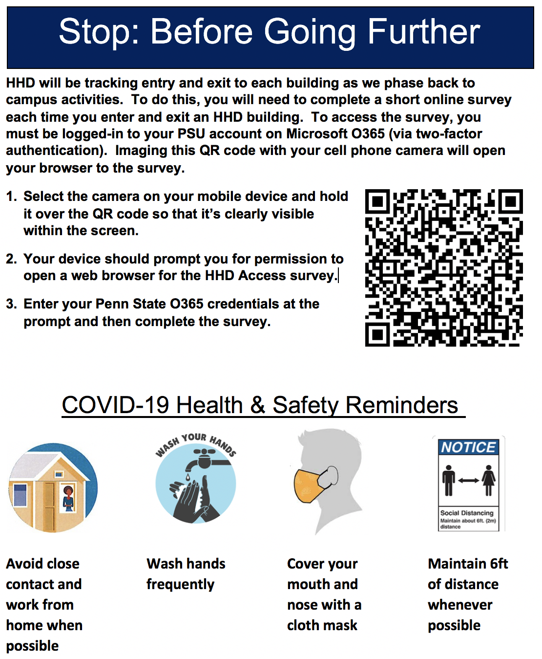 HHD Building Entry and Exit flyer