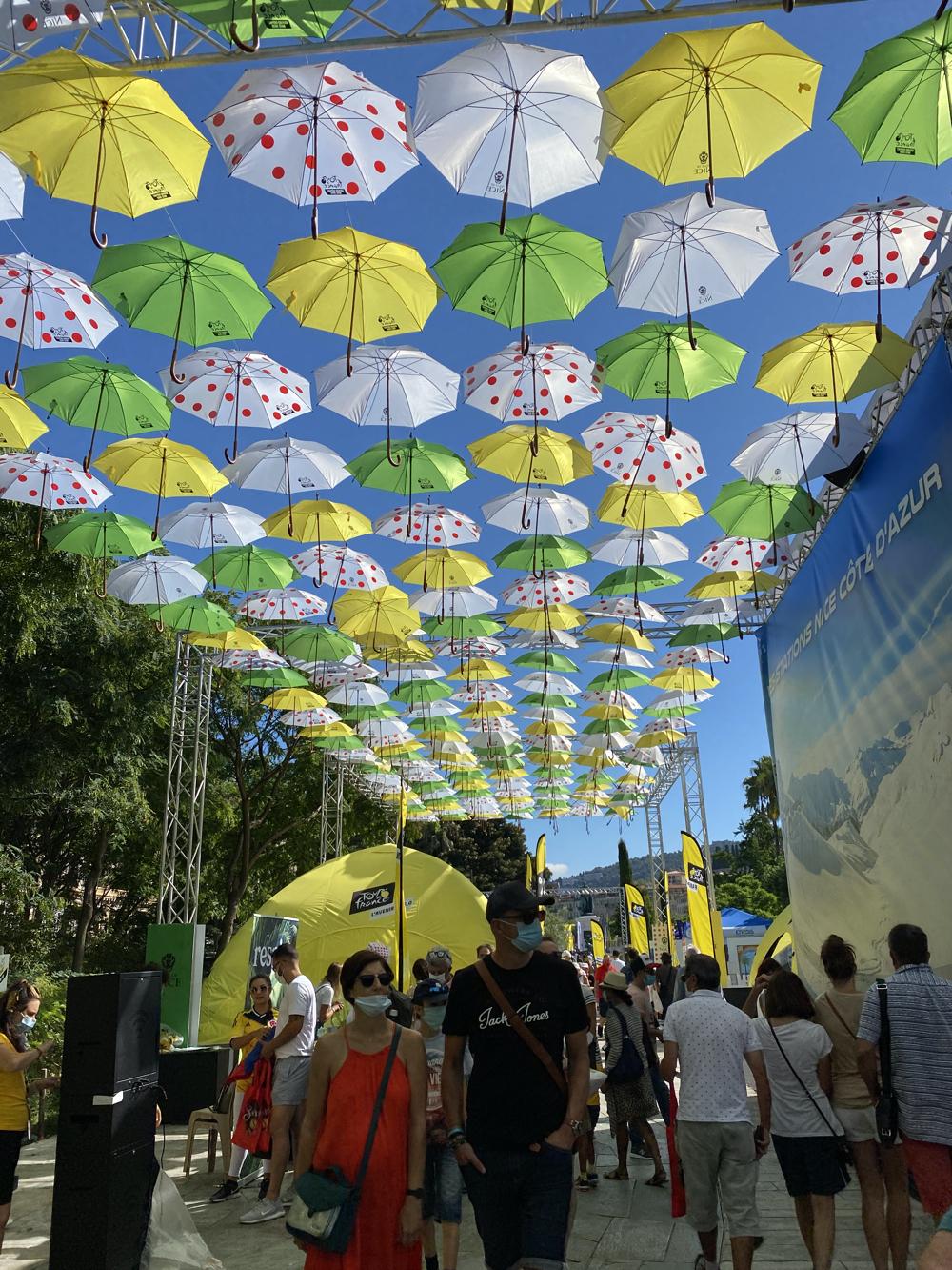 The Fan Park of the Tour de France