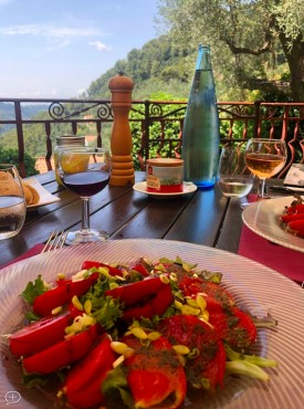 The Tomato Salad at La Madone