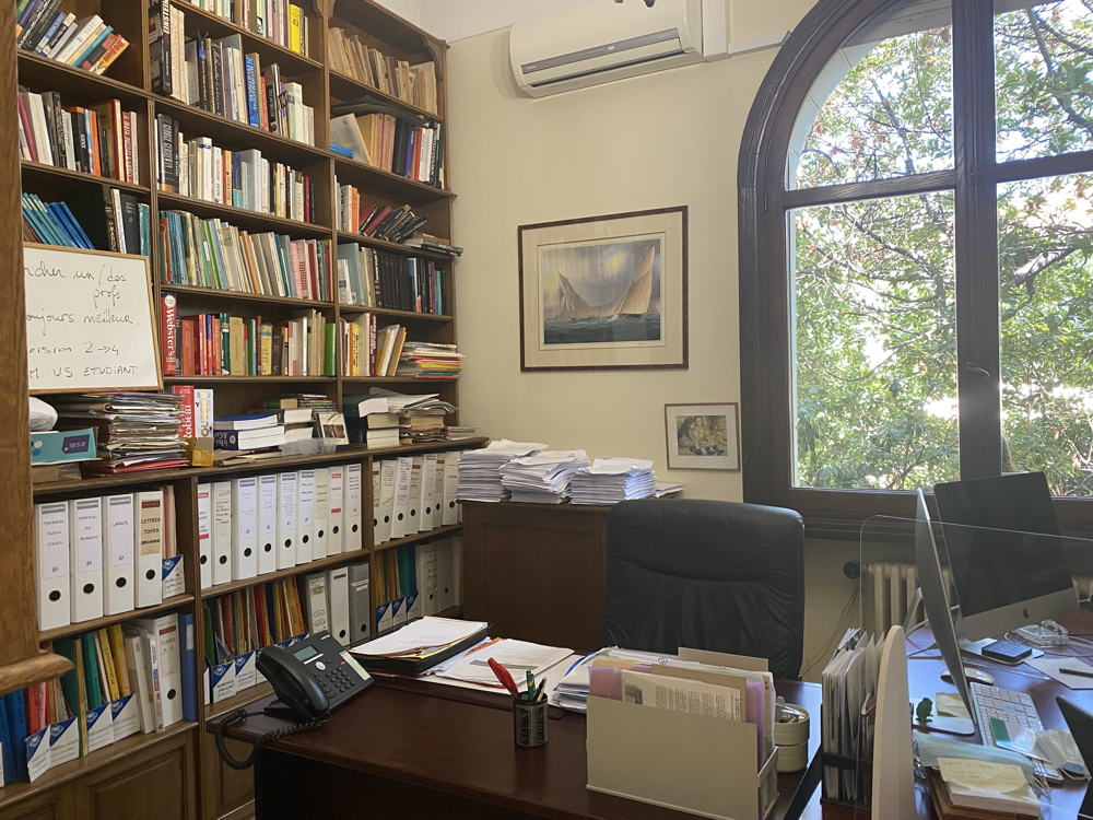 M. Colbert's Desk, Left Exactly as It Was Since His Passing in January