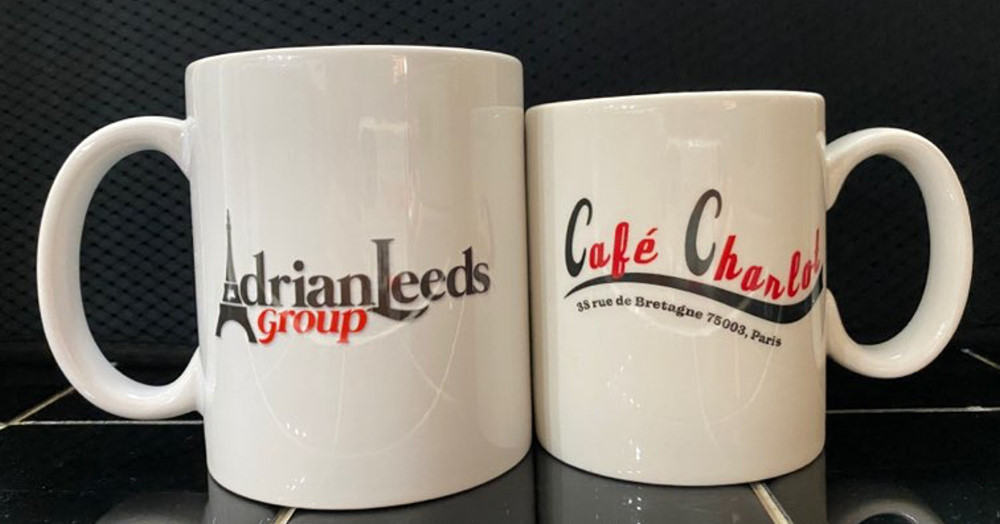 Adrian Leeds Group and Adrian's Café Charlot Mug