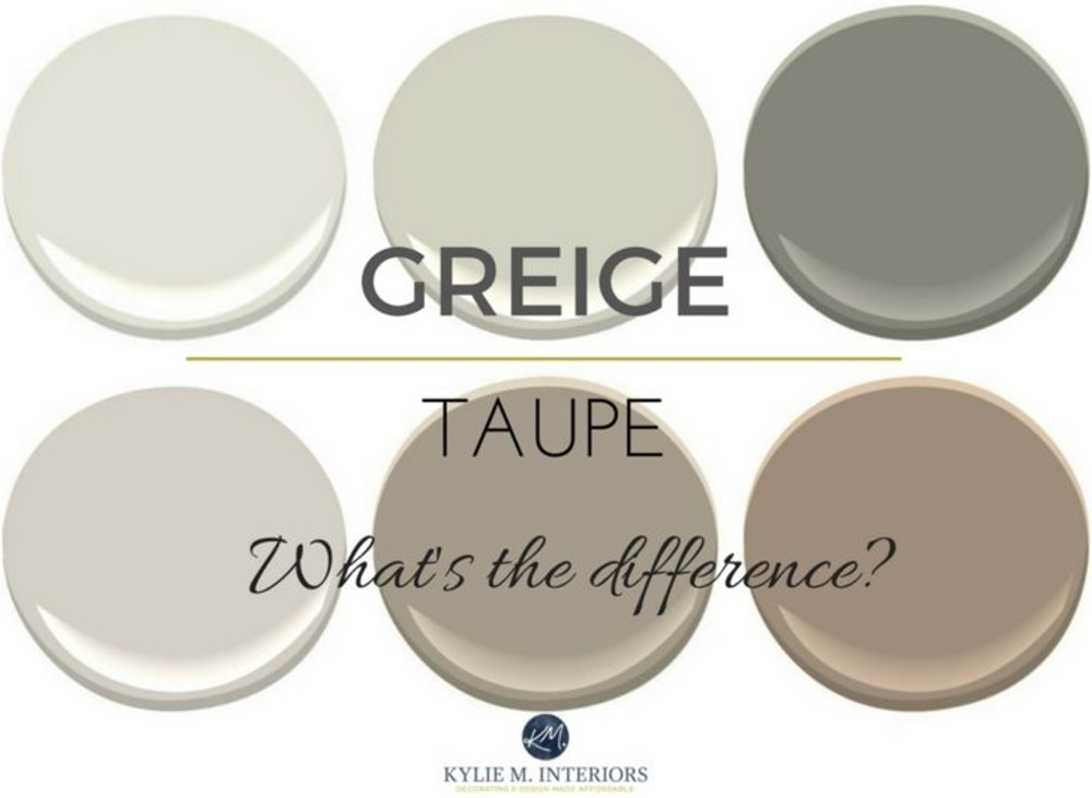 The Difference Between Greige and Taupe