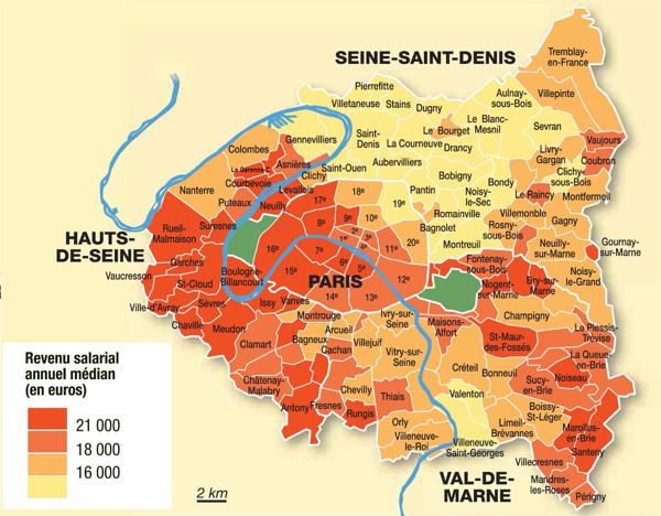 Revenues Paris Petite Couronne