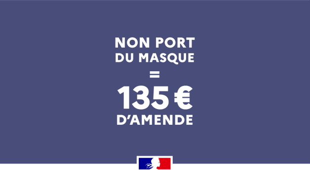 The Price for Not Wearing a Mask in France