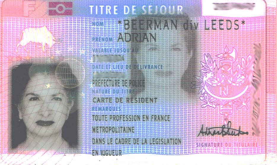 French Carte de Resident