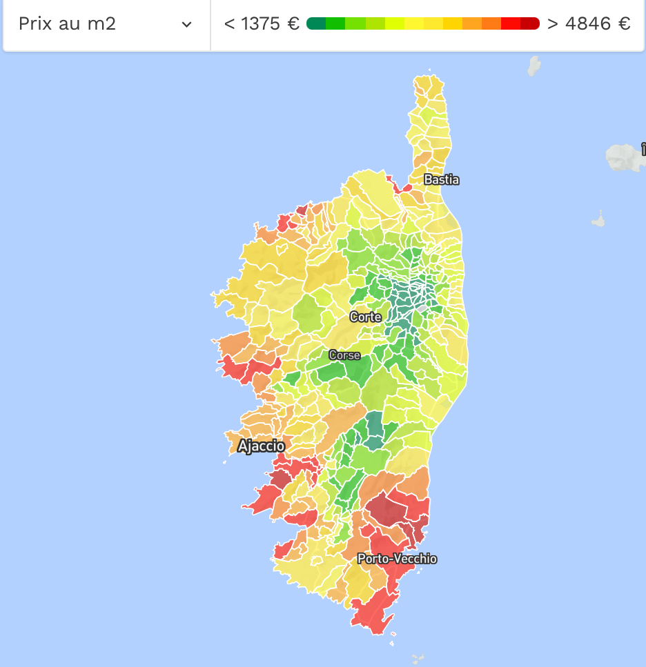 Corsican Property Prices Per Metre