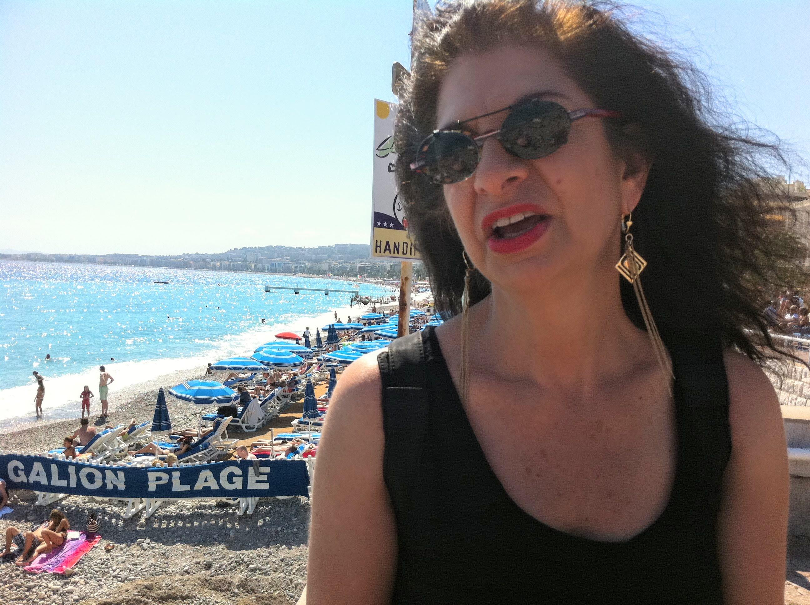 Adrian on the beach in Nice