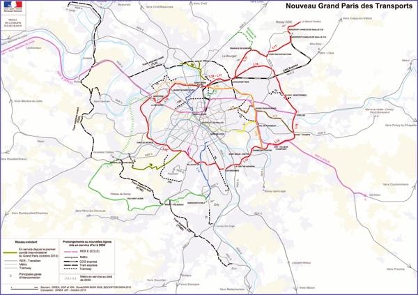 Le Nouveau Grand Paris transports