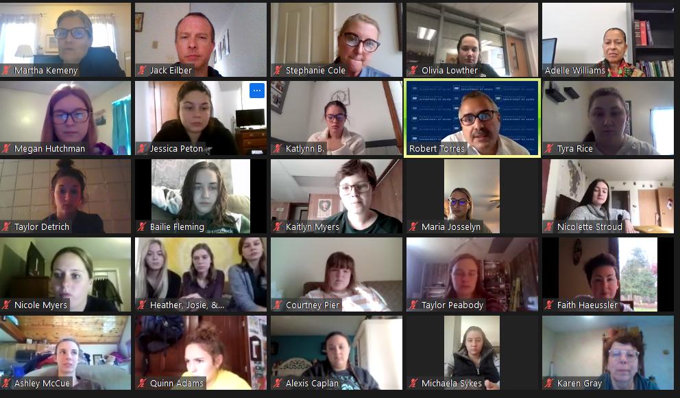 Photo of Virtual Meeting Participants.