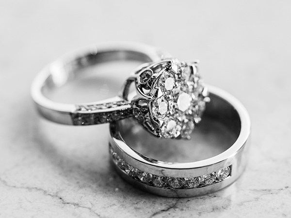 Engagement rings and wedding rings