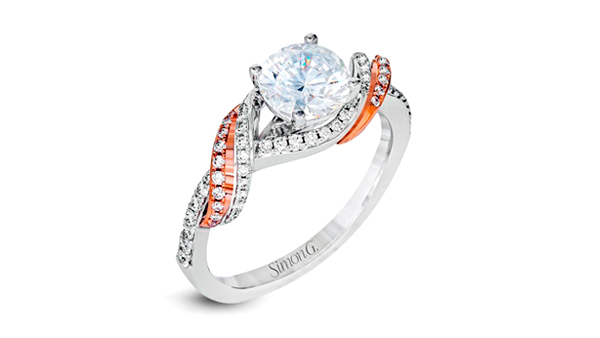 Engagement ring two tone