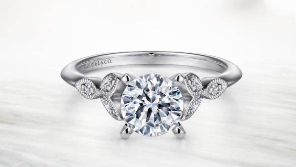 Gabriel Co engagement ring