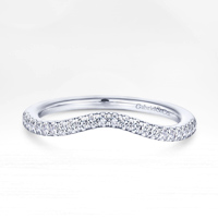 Curved wedding bands