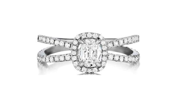 Split-shank engagement ring