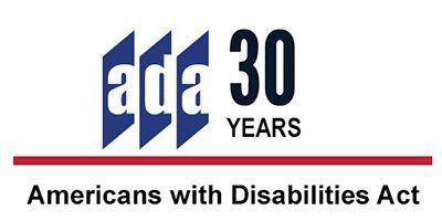 ADA 30 logo in red, blue, and black