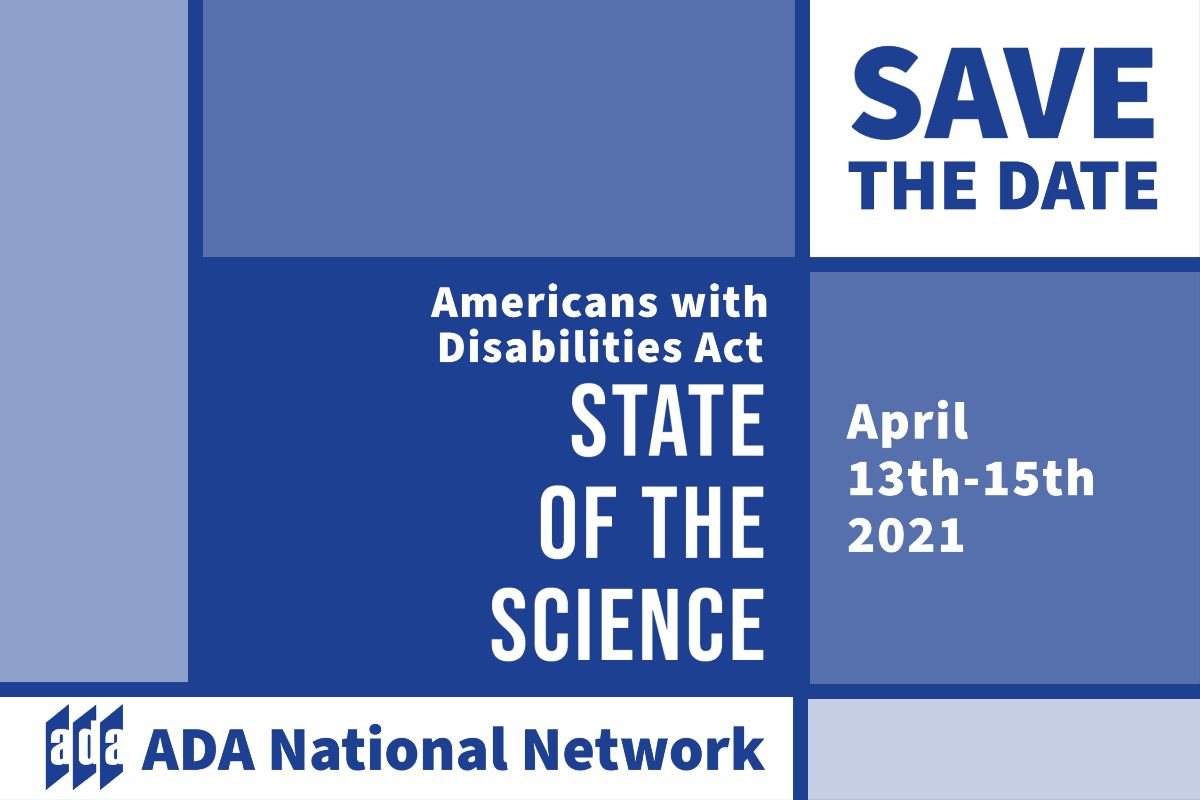 Save the Date ADA State of the Science April 13th-15th 2021