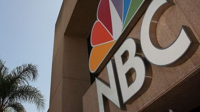 NBC Sign at the front of a building