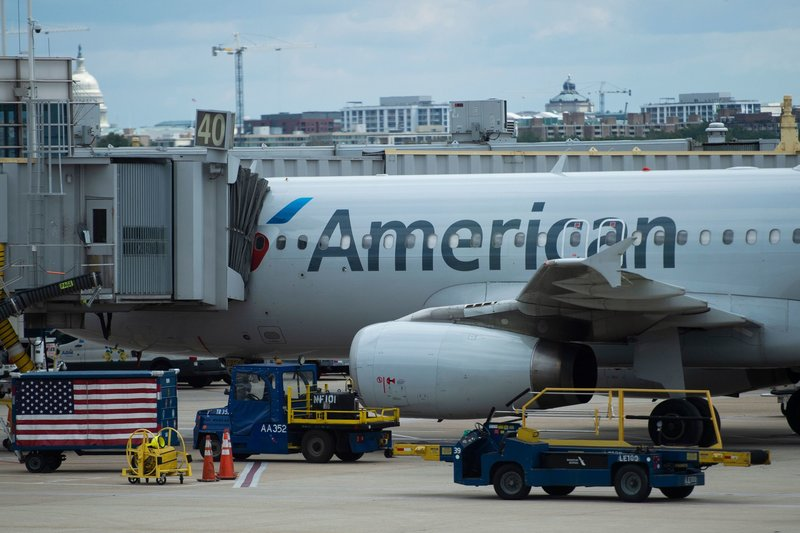 American Airlines plane at the gate