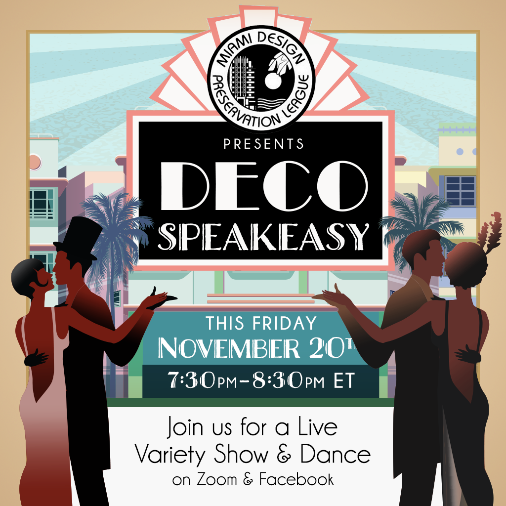 MDPL Presents Deco Speakeasy this Friday, November 20th from 7:30pm-8:30pm