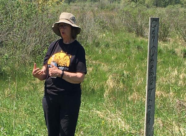 Kay McClelland at the Natural Resources Foundation walk - Photo by Pam Holy
