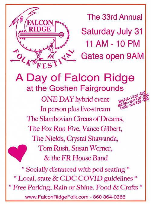 Falcon Ridge Folk Festival - Saturday, Jul 31, 2021