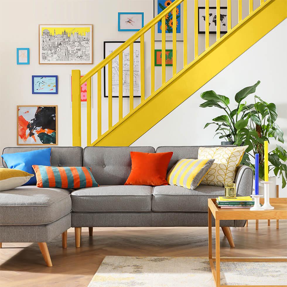 Harlow Light Grey Fabric L Shape Corner Sofa - LHF
