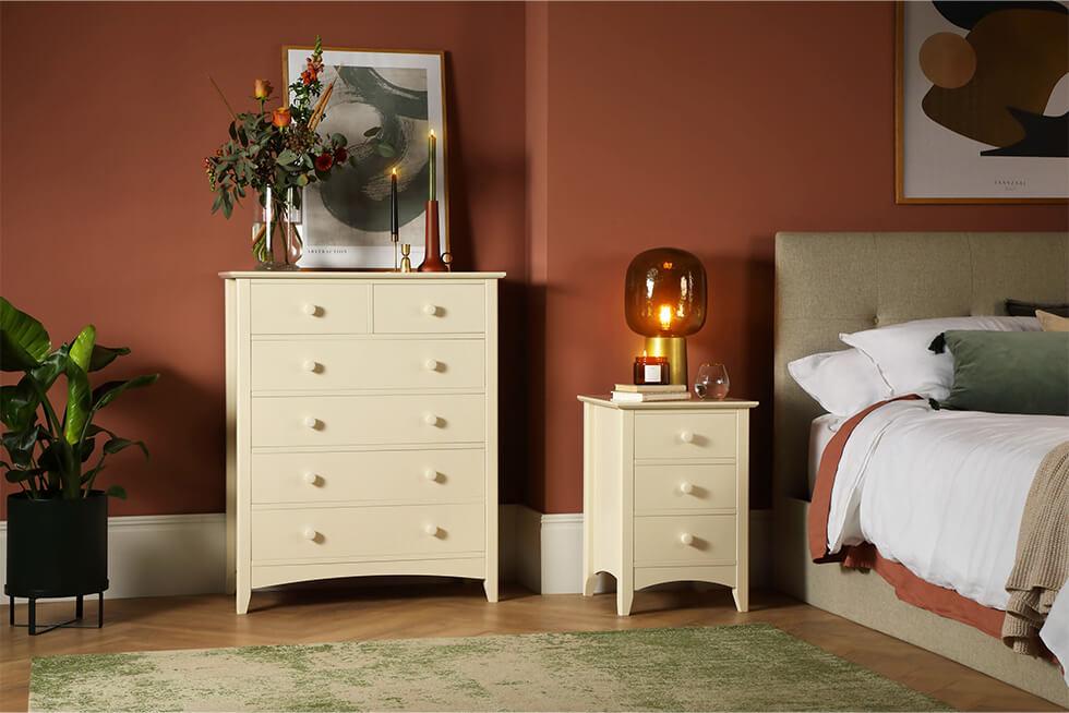 Chatham Stone White 3 Piece 2 Door Wardrobe Bedroom Furniture Set