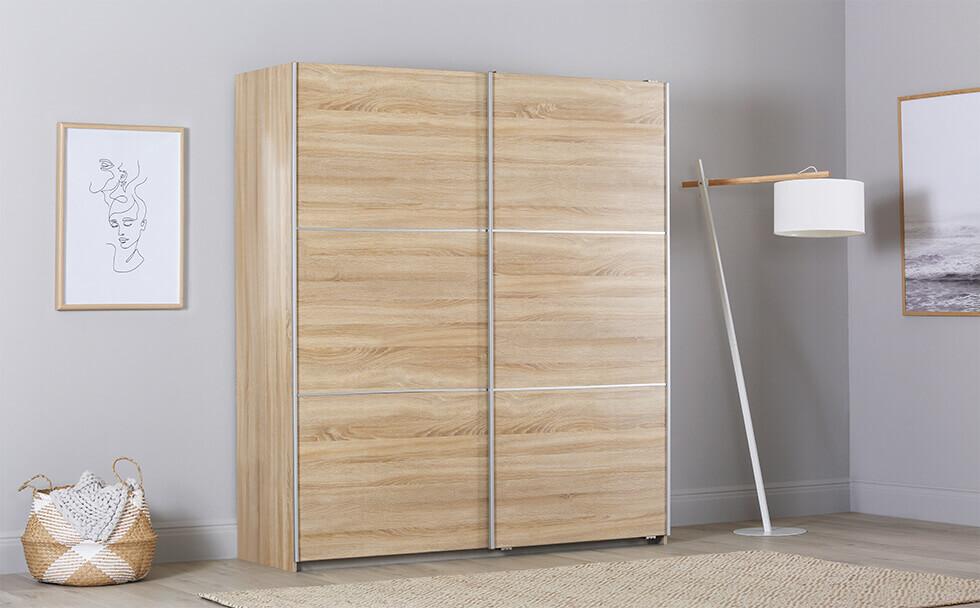 Rauch Palmela Oak 2 Door Sliding Wardrobe