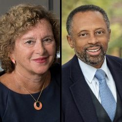 Rutgers Newark Chancellor Nancy Cantor and Earl Lewis University of Michigan
