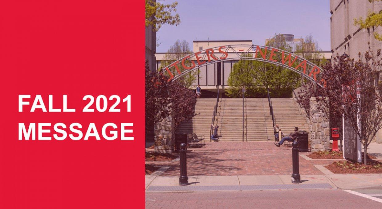Rutgers Newark Fall 2021 Header