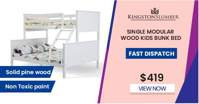 Single Modular Wood Kids Bunk Bed