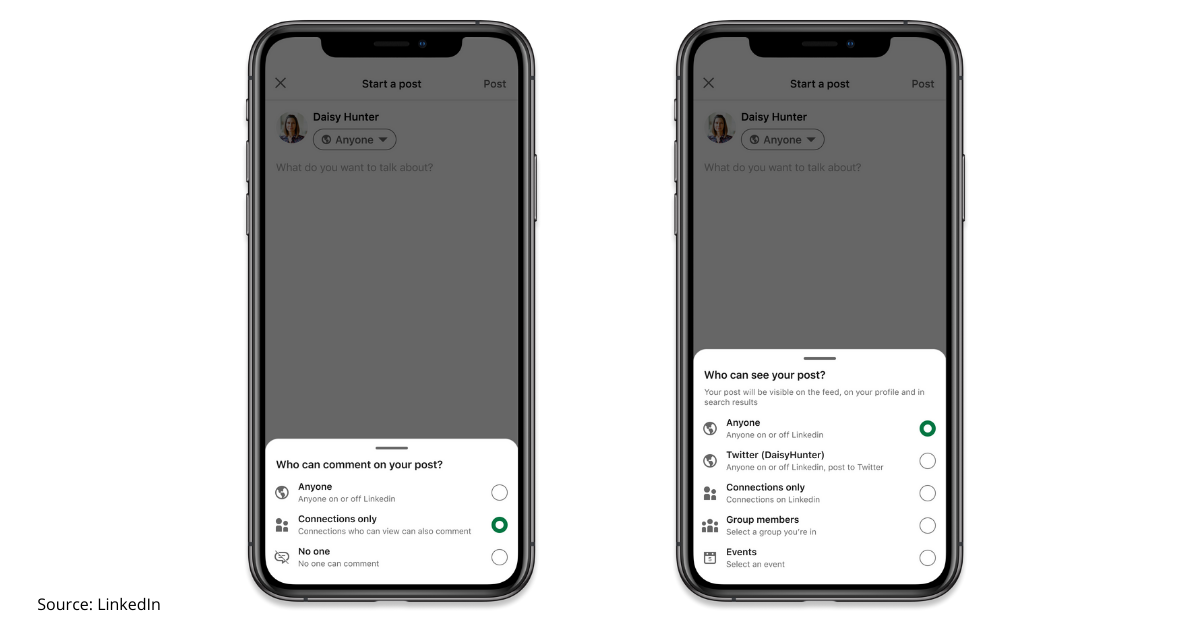 LinkedIn introduces new conversation controls