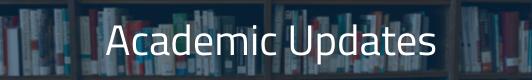 Academic Updates