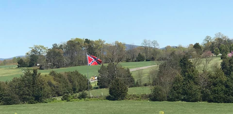 NEW Mega Battle Flag Raised in Franklin County - Va Flaggers Vow To Continue Push Back Against the Left's Onslaught