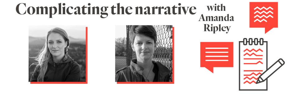 Event invite banner design: Complicating the narrative with Amanda Ripley