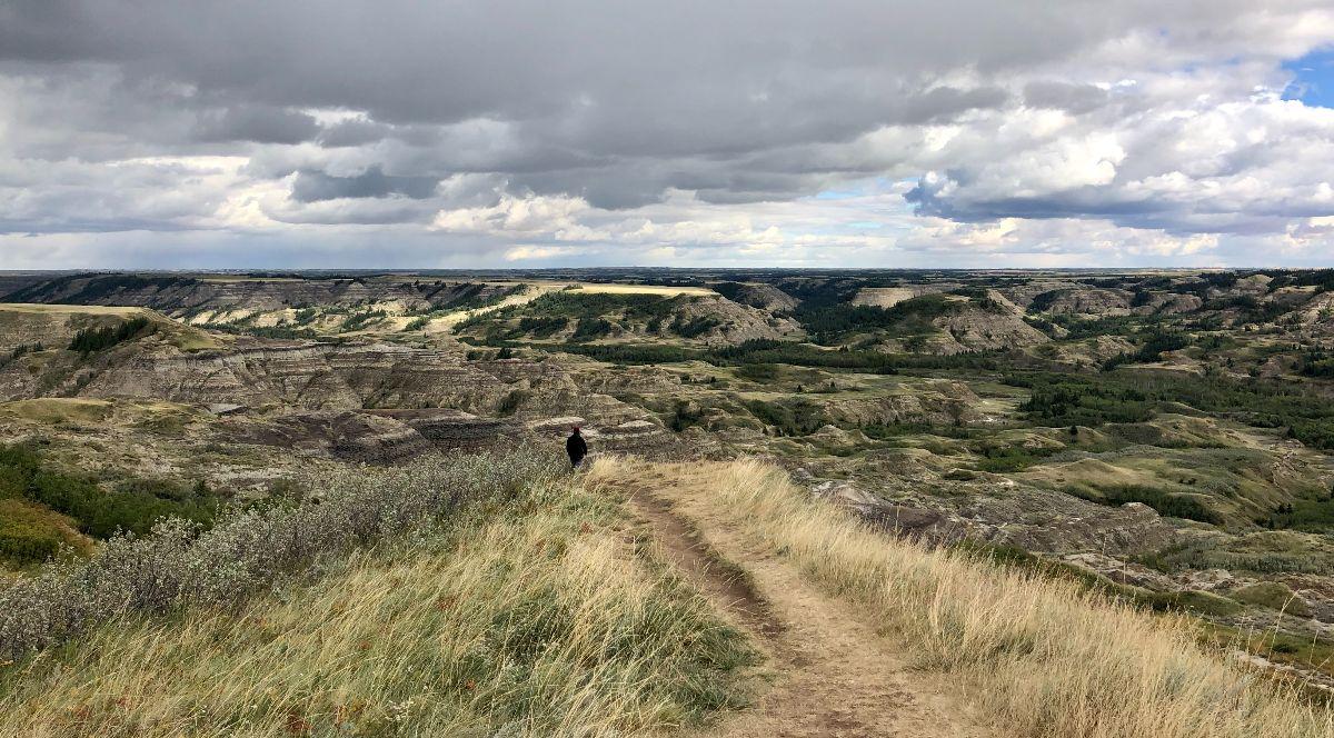 badlands grassy landscape
