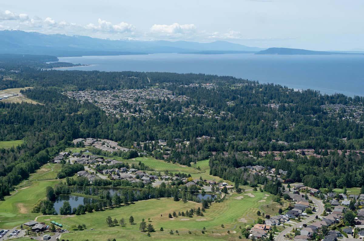 An aerial view of Qualicum Beach, B.C.