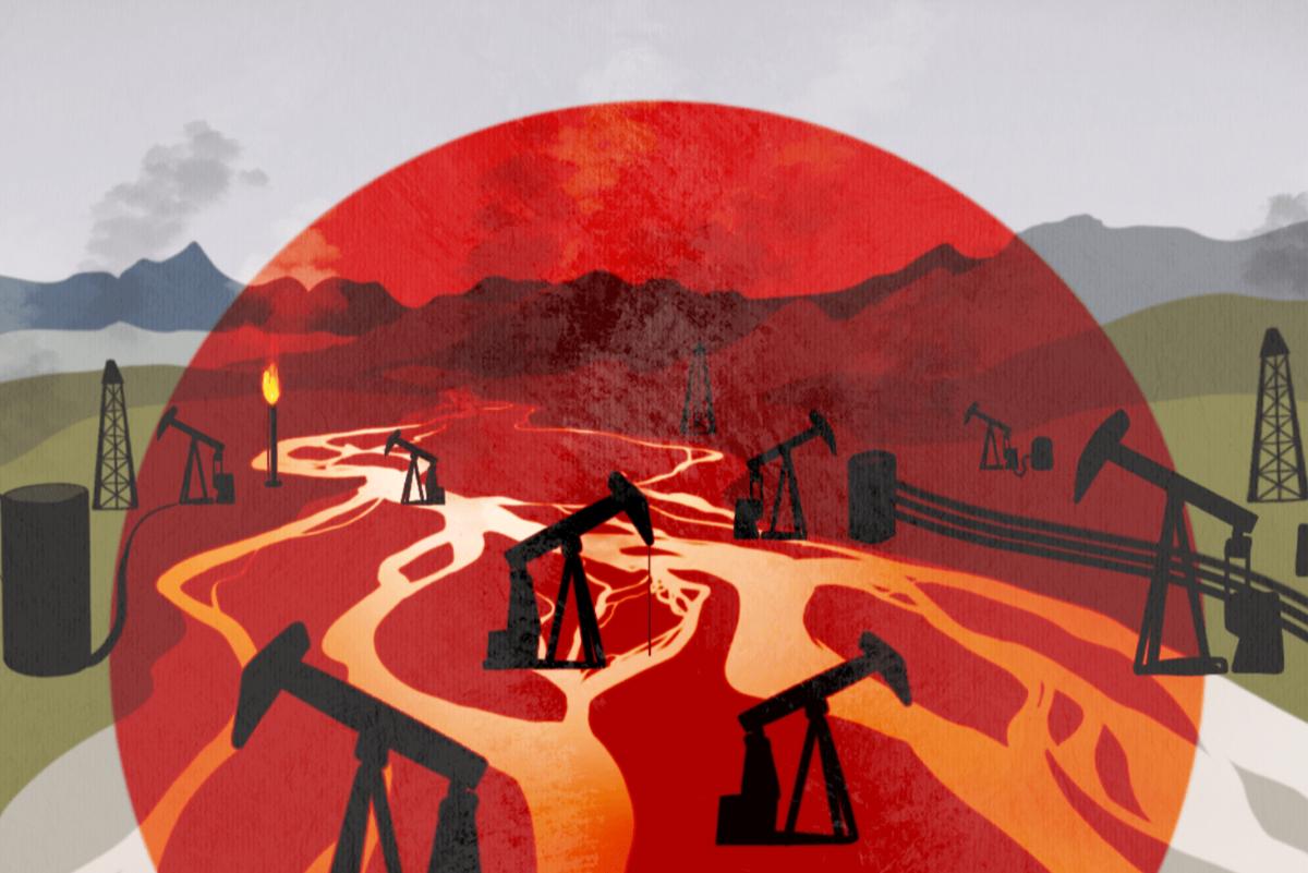 illustration oil drilling arctic
