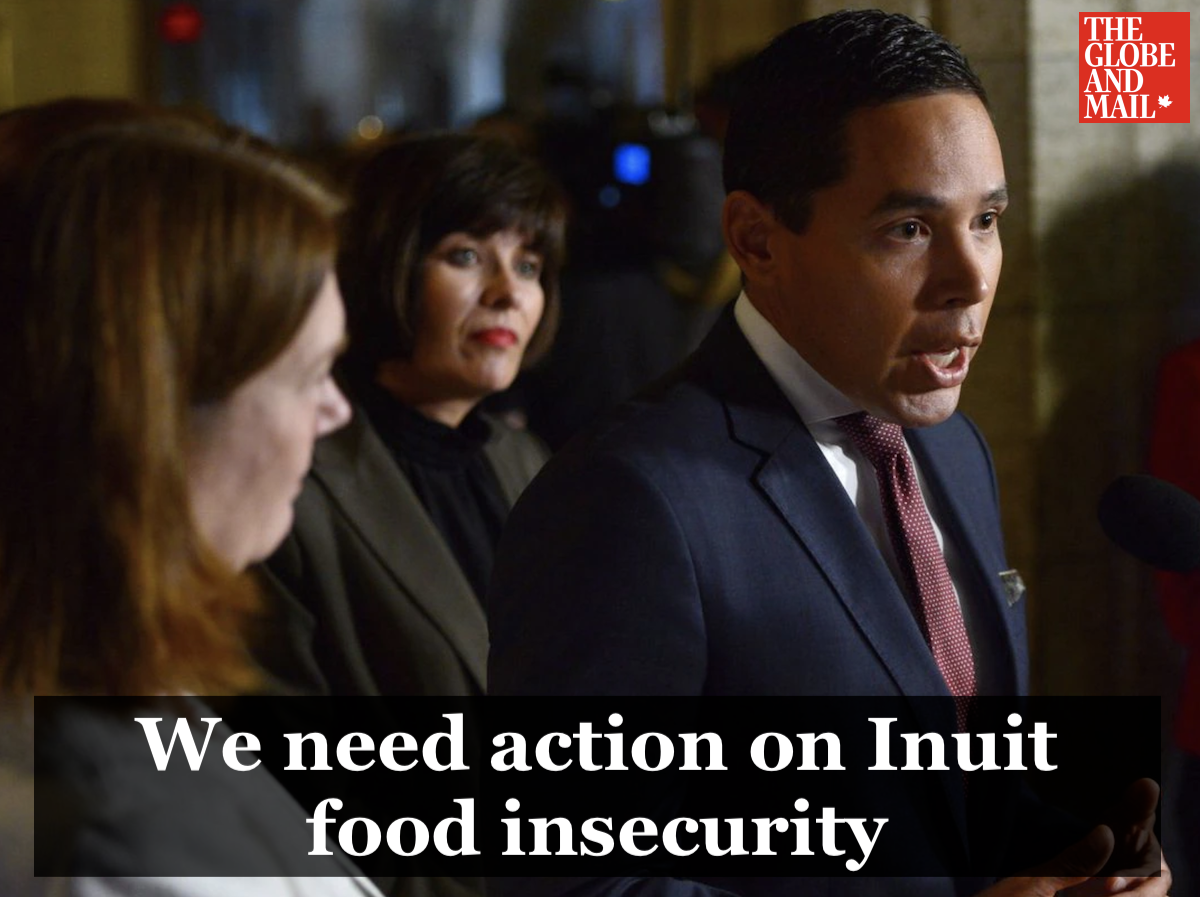 Globe and Mail opinion piece: We need action on Inuit food insecurity