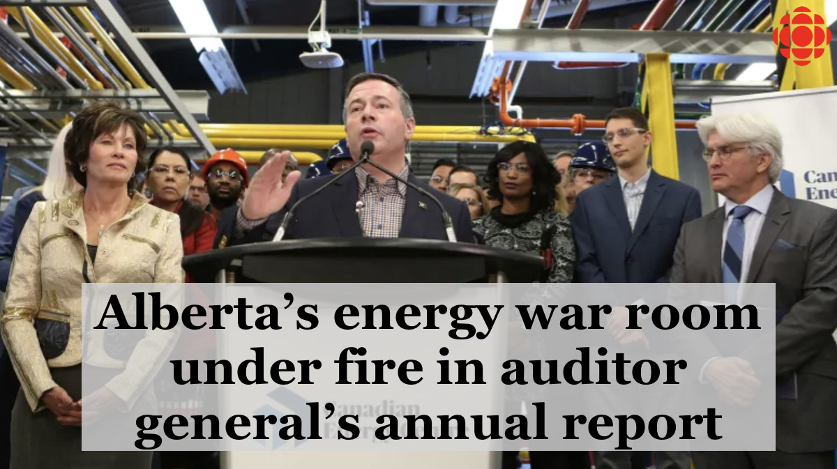 cbc article alberta energy war room