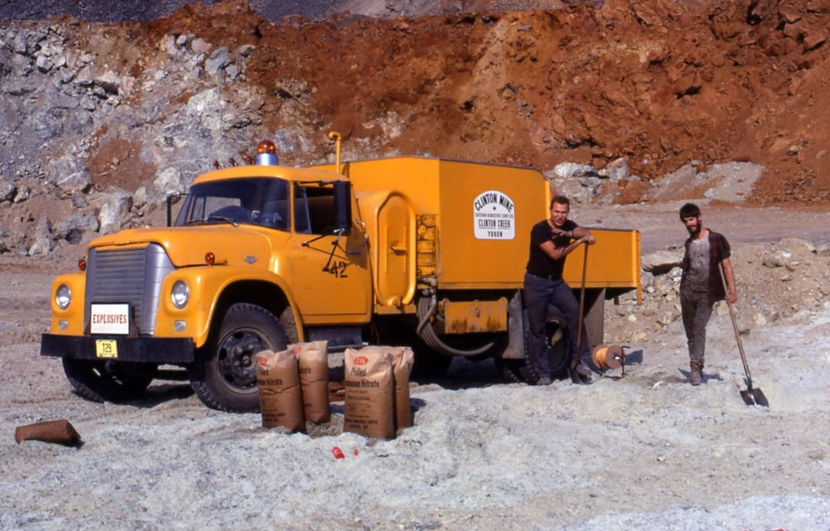 Clinton Creek mine workers in 1970